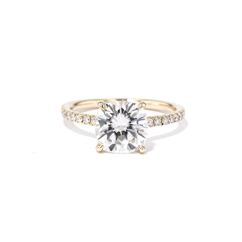 Nicole Cushion Engagement Rings Princess Bride Diamonds 3 14K Yellow Gold