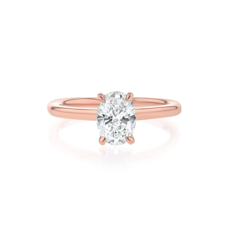 Nicole Oval Solitaire Engagement Rings Princess Bride Diamonds 3 14K Rose Gold