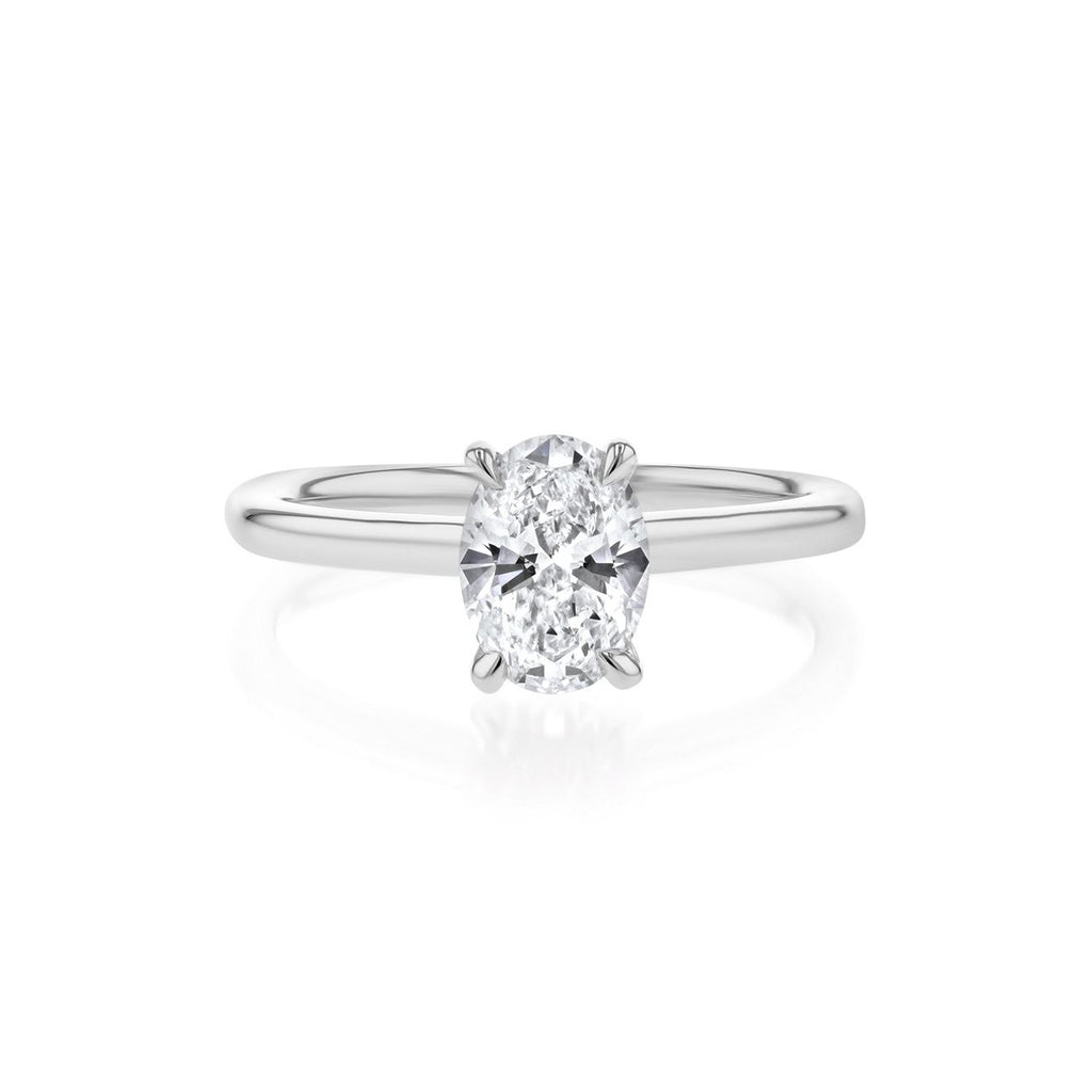 Nicole Oval Solitaire Engagement Rings Princess Bride Diamonds 3 14K White Gold