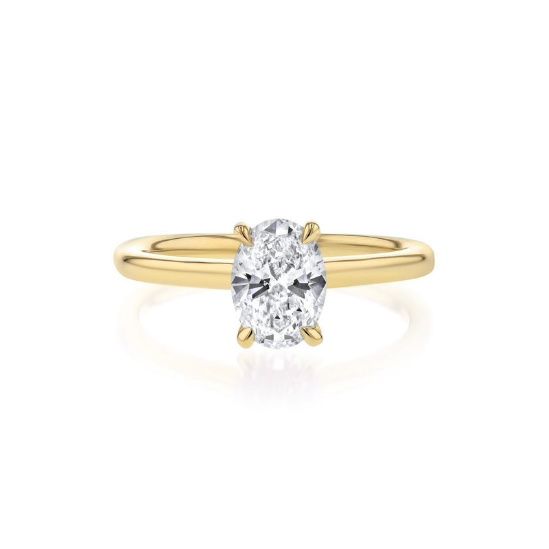 Nicole Oval Solitaire Engagement Rings Princess Bride Diamonds 3 14K Yellow Gold