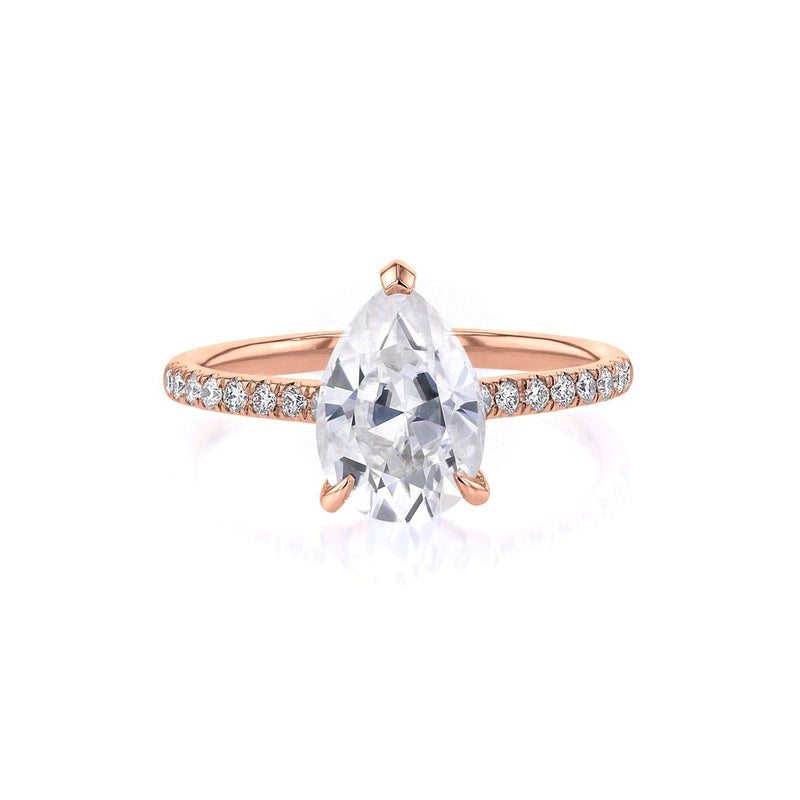 Nicole Pear Engagement Ring Engagement Rings Princess Bride Diamonds 3 14K Rose Gold