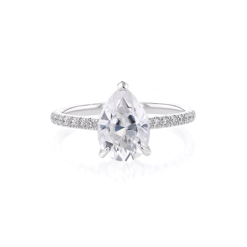 Nicole Pear Engagement Ring Engagement Rings Princess Bride Diamonds 3 14K White Gold