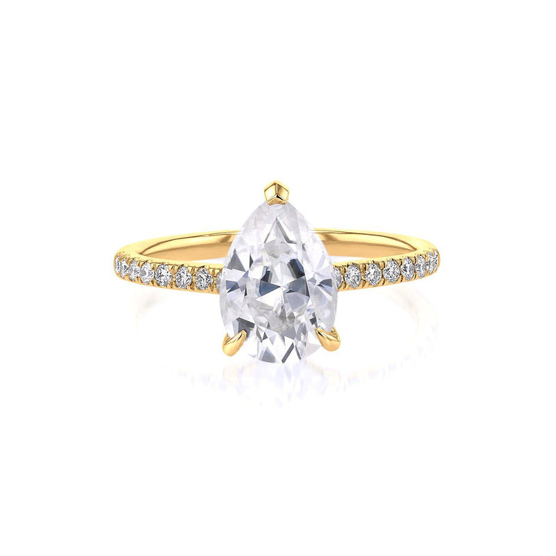 Nicole Pear Engagement Ring Engagement Rings Princess Bride Diamonds 3 14K Yellow Gold