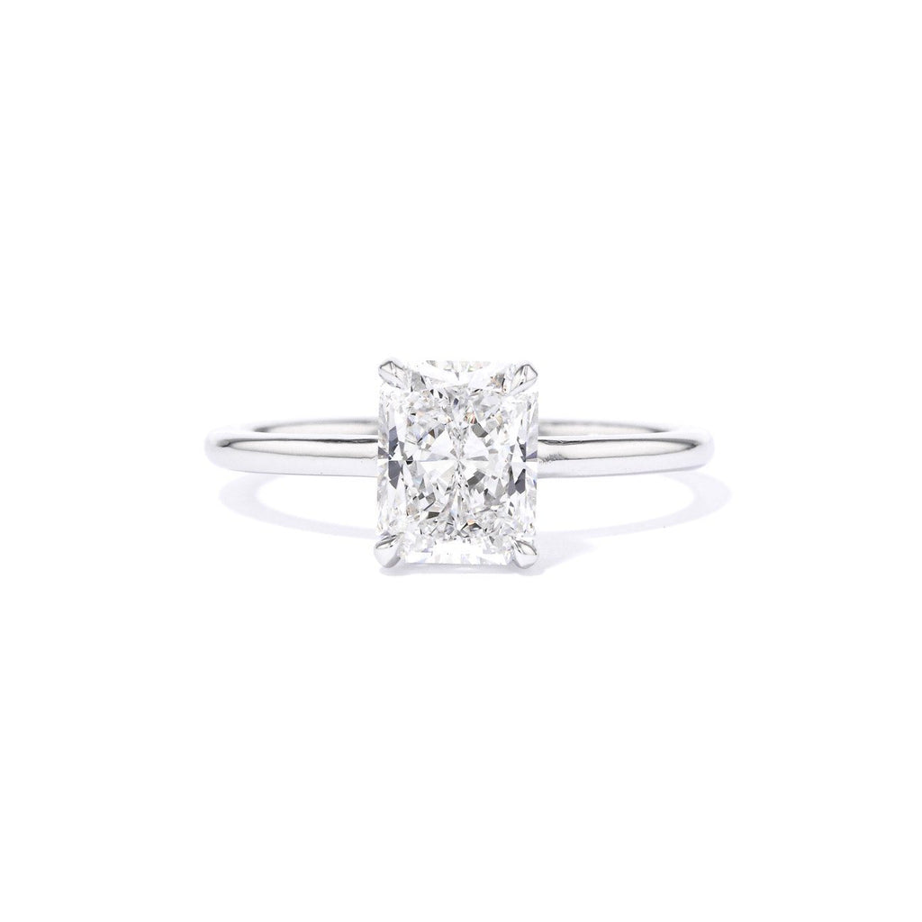 Nicole Radiant Plain Polish Engagement Rings Princess Bride Diamonds