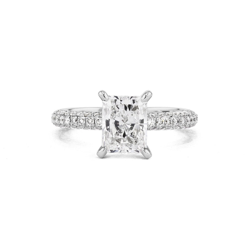 Orion Radiant Engagement Rings Princess Bride Diamonds 3 14K White Gold