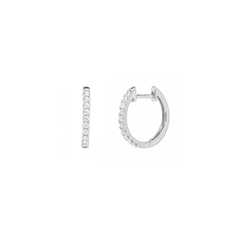 Pavé Diamond Huggie Hoops Fine Jewelry Earrings Princess Bride Diamonds