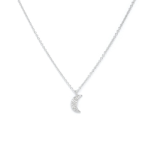 Pavé Diamond Moon Necklace Necklaces Princess Bride Diamonds