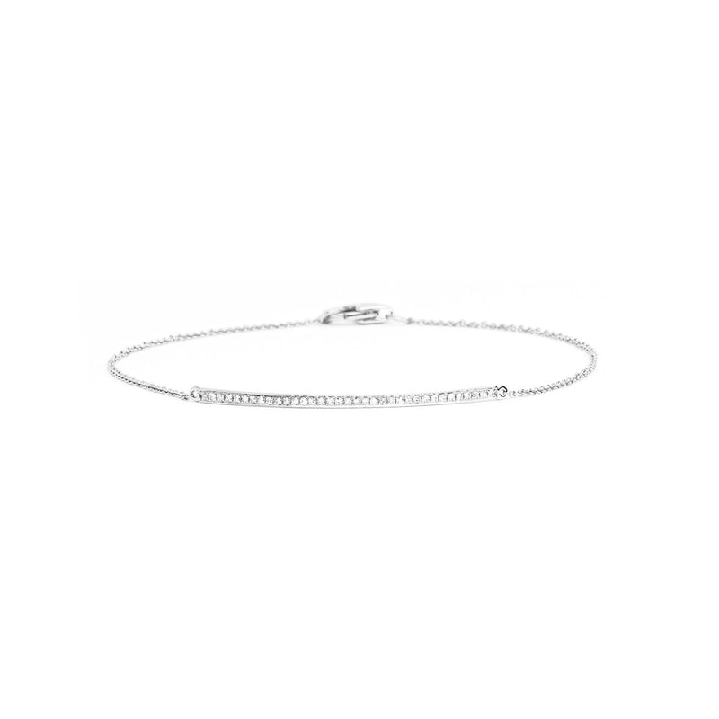 Petite Diamond Line Bracelet Bracelet Princess Bride Diamonds 14K White Gold