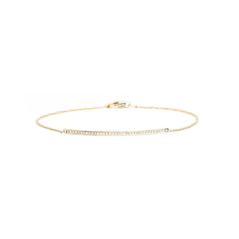 Petite Diamond Line Bracelet Bracelet Princess Bride Diamonds 14K Yellow Gold