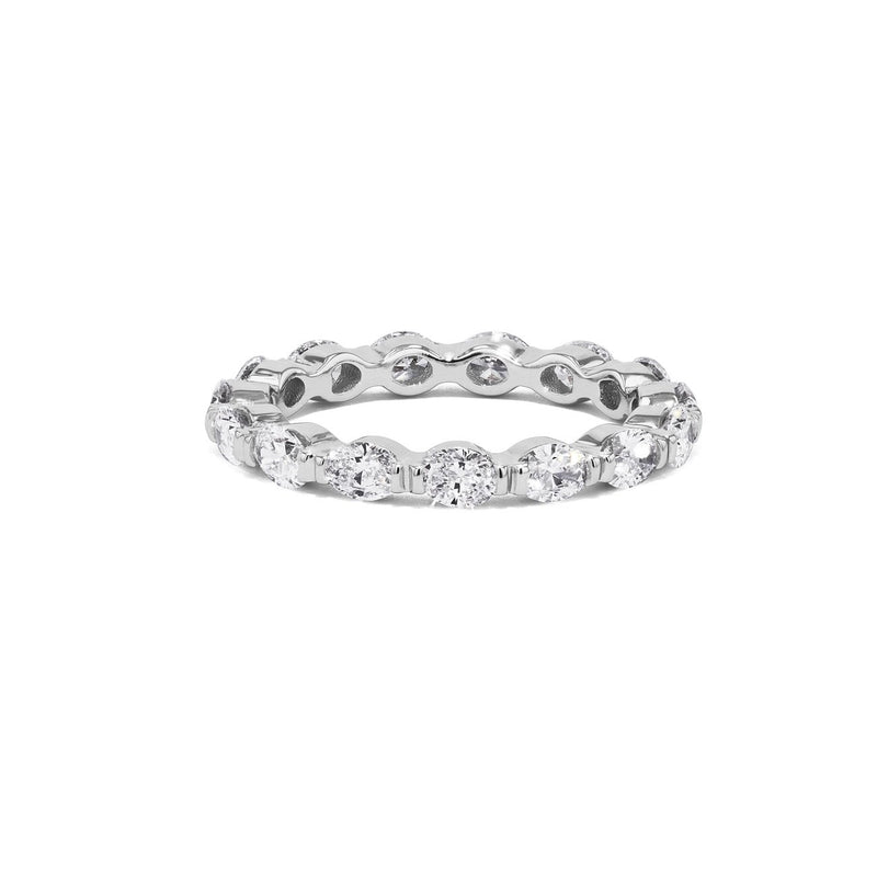 Petite East West Oval Diamond Eternity Ring Ring Princess Bride Diamonds