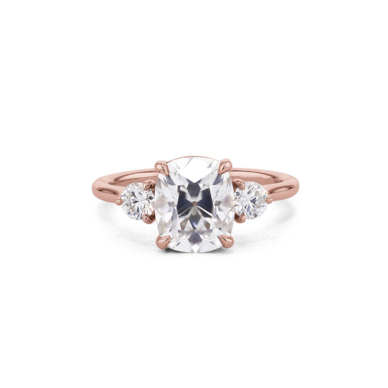 Rachel Cushion Engagement Rings Princess Bride Diamonds 3 14K Rose Gold