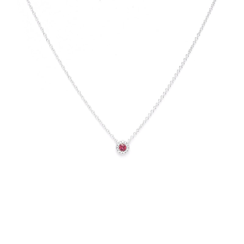 Round Ruby Diamond Halo Necklace Necklaces Princess Bride Diamonds