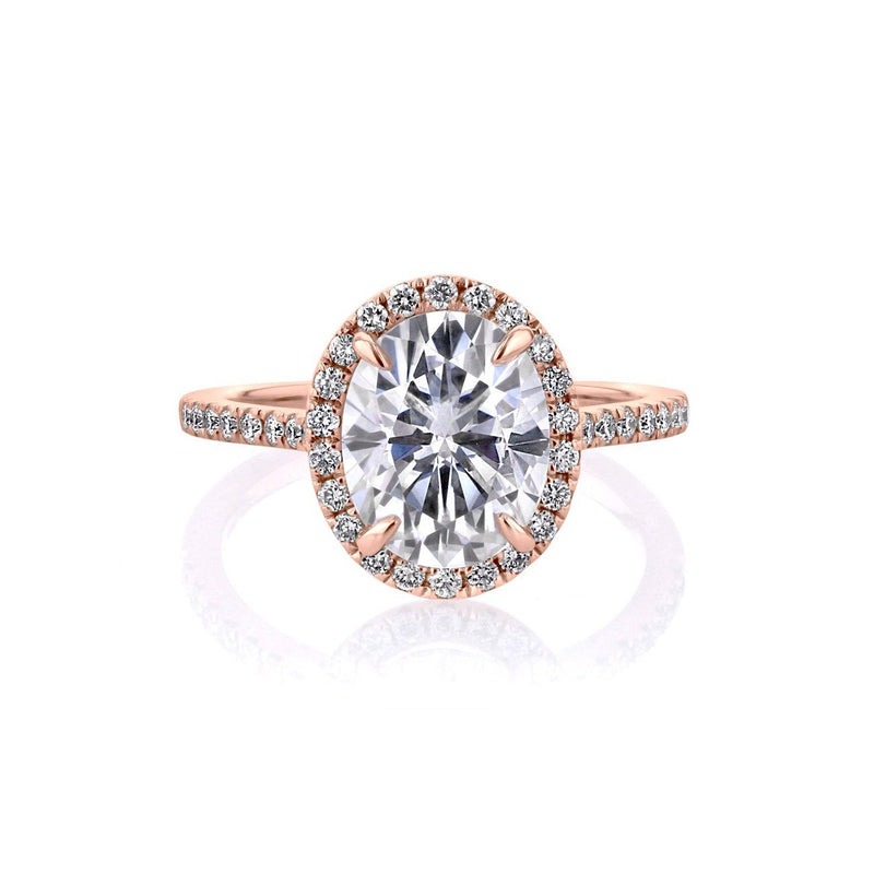 Scarlett Oval Engagement Rings Princess Bride Diamonds 3 14K Rose Gold