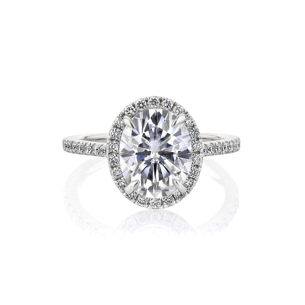 Scarlett Oval Engagement Rings Princess Bride Diamonds 3 14K White Gold