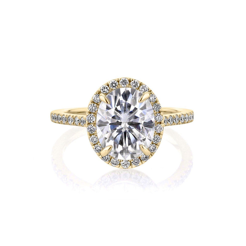 Scarlett Oval Engagement Rings Princess Bride Diamonds 3 14K Yellow Gold
