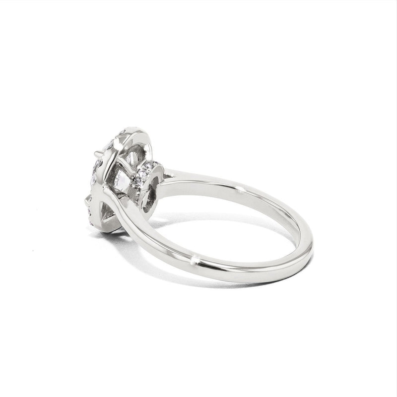 Scarlett Oval Plain-Polish Engagement Rings Princess Bride Diamonds