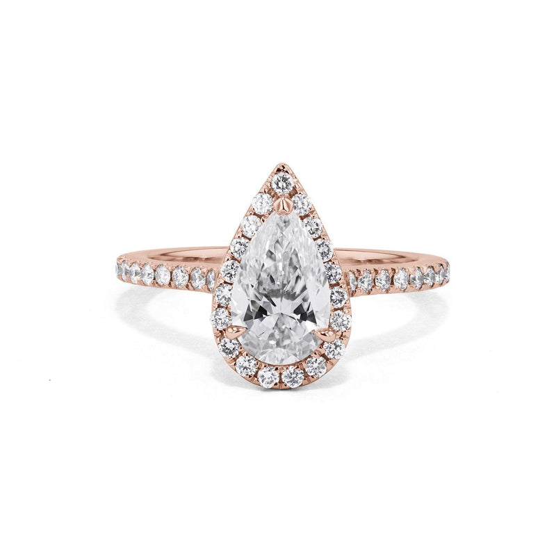 Scarlett Pear Engagement Ring Engagement Rings Princess Bride Diamonds 3 14K Rose Gold