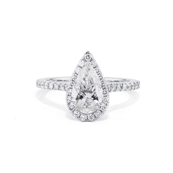 Scarlett Pear Engagement Ring Engagement Rings Princess Bride Diamonds 3 14K White Gold