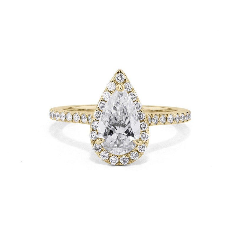 Scarlett Pear Engagement Ring Engagement Rings Princess Bride Diamonds 3 14K Yellow Gold