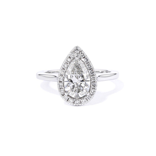 Scarlett Pear High Polish Engagement Rings Princess Bride Diamonds