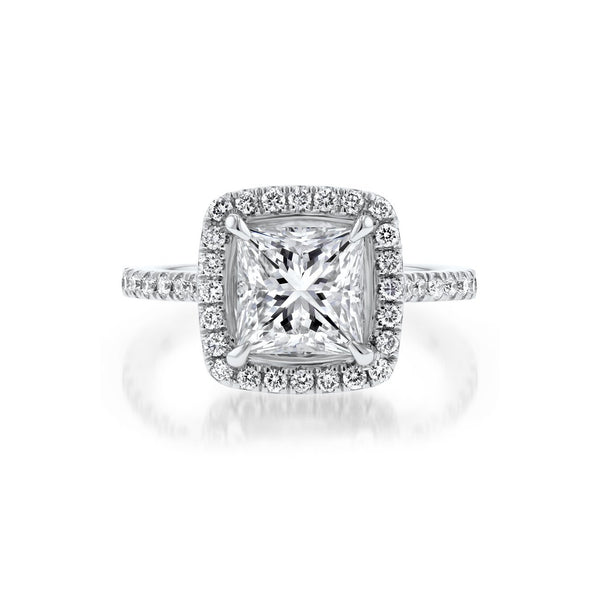 Scarlett Princess Engagement Rings Princess Bride Diamonds 3 14K White Gold