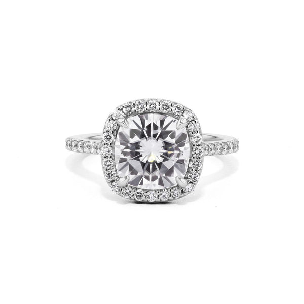 Scarlett Rounded Cushion Engagement Rings Princess Bride Diamonds 3 14K White Gold