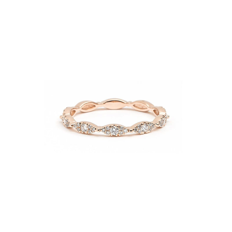 Seamless Marquise Diamond Ring Ring Princess Bride Diamonds 3 14K Rose Gold