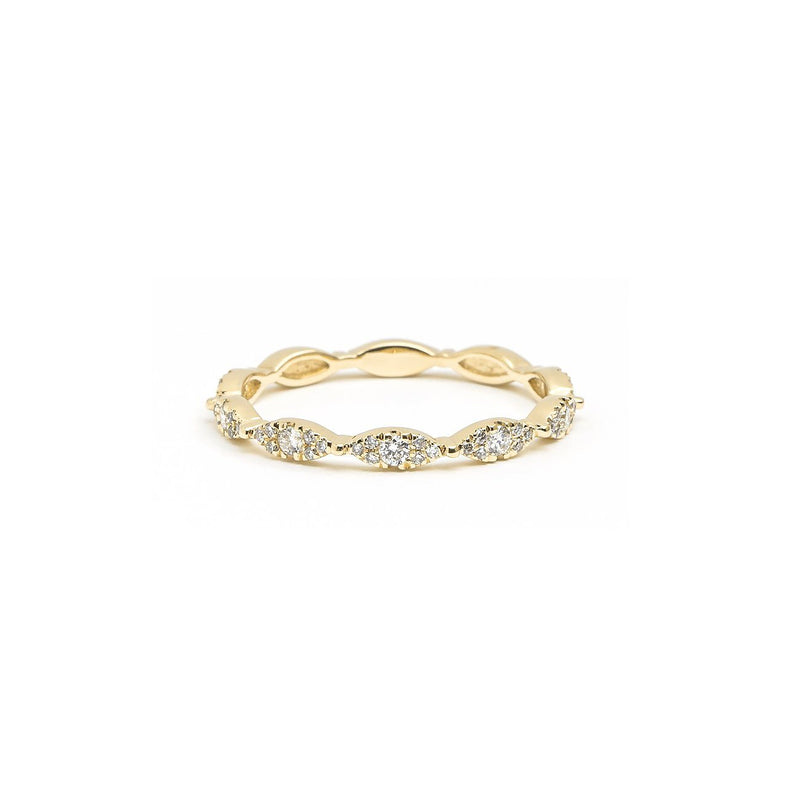 Seamless Marquise Diamond Ring Ring Princess Bride Diamonds 3 14K Yellow Gold