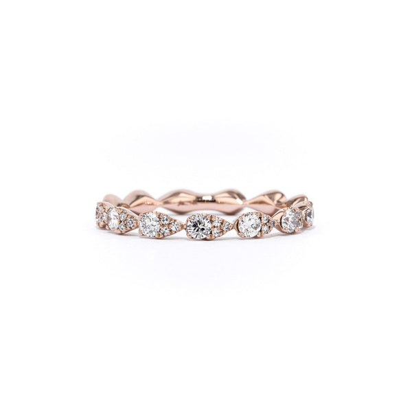 Seamless Pear Diamond Ring Ring Princess Bride Diamonds 3 14K Rose Gold