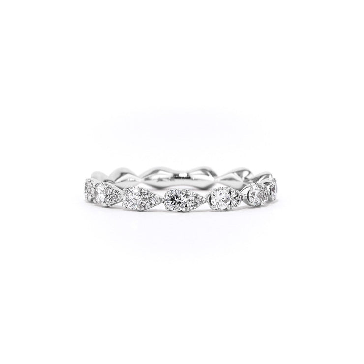Seamless Pear Diamond Ring Ring Princess Bride Diamonds 3 14K White Gold