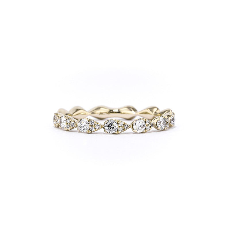 Seamless Pear Diamond Ring Ring Princess Bride Diamonds 3 14K Yellow Gold