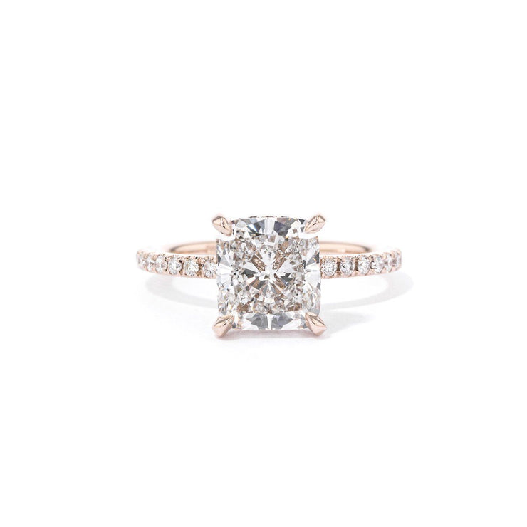 Shelby Cushion 2.0 Engagement Rings Princess Bride Diamonds 3 14K Rose Gold
