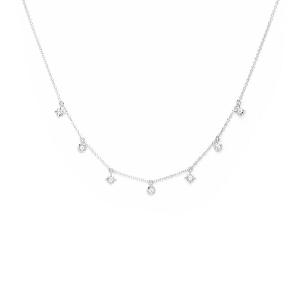 Star and Round Diamond Drop Necklace Necklaces Princess Bride Diamonds