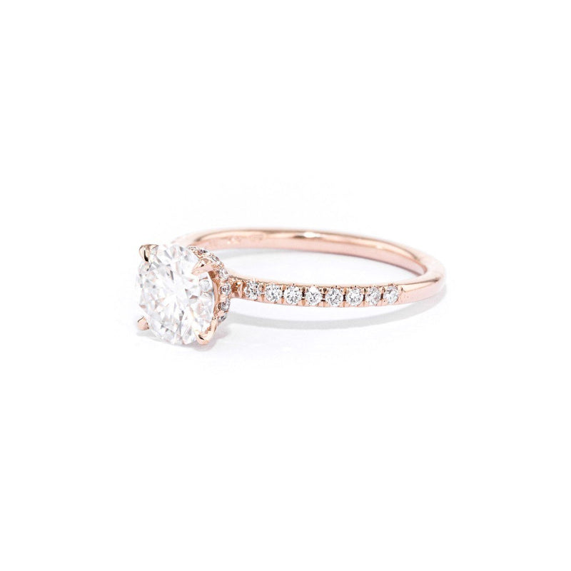 Stephanie Round Engagement Rings Princess Bride Diamonds