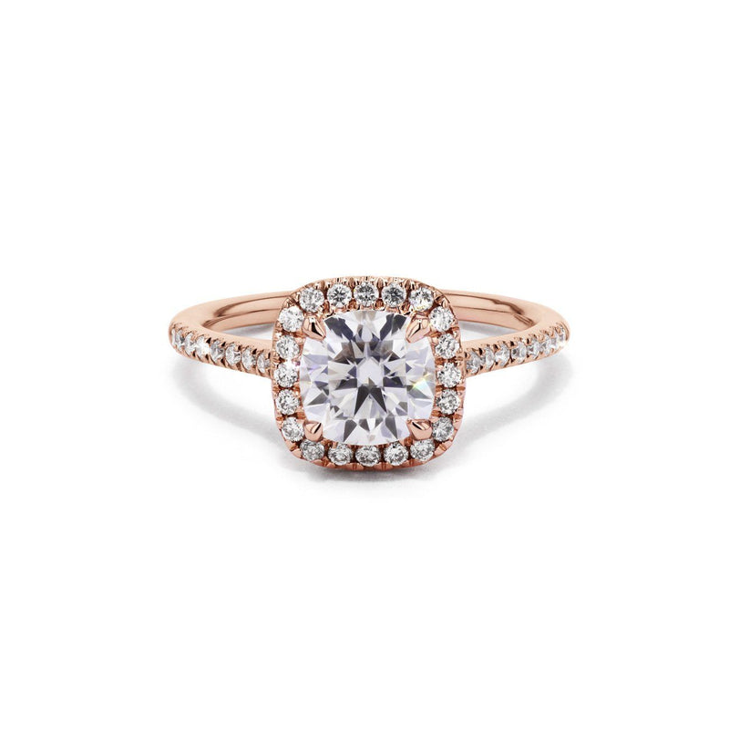 Taylor Cushion Engagement Rings Princess Bride Diamonds 3 14K Rose Gold