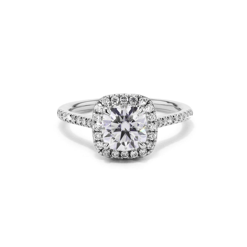 Taylor Cushion Engagement Rings Princess Bride Diamonds 3 14K White Gold
