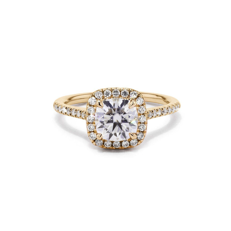 Taylor Cushion Engagement Rings Princess Bride Diamonds 3 14K Yellow Gold