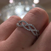 Three Strand Braided Diamond Ring Ring Princess Bride Diamonds