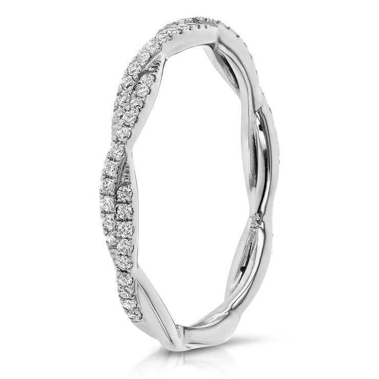 Tight Braid Diamond Ring Ring Princess Bride Diamonds