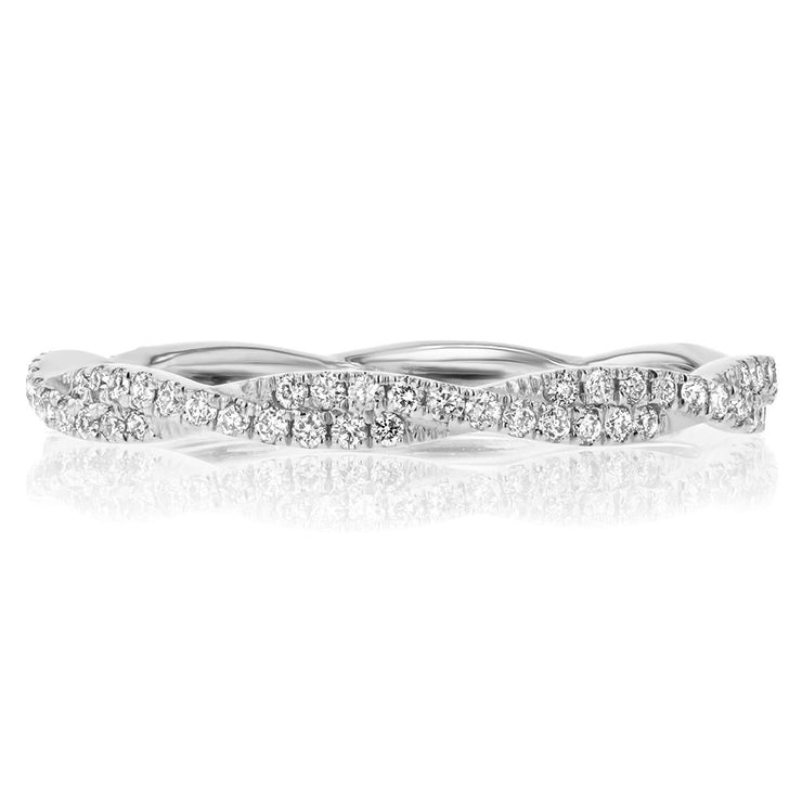 Tight Braid Diamond Ring Ring Princess Bride Diamonds 3 14K White Gold