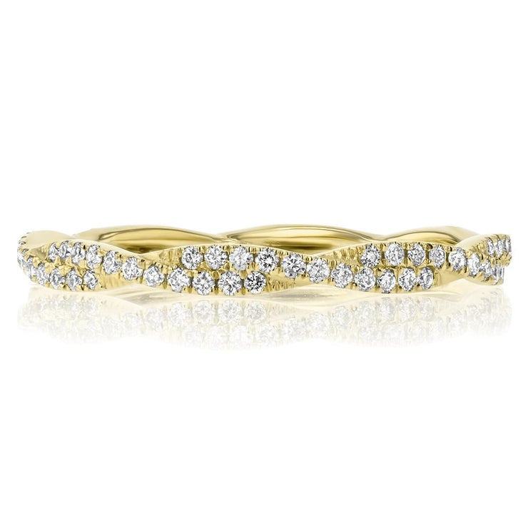 Tight Braid Diamond Ring Ring Princess Bride Diamonds 3 14K Yellow Gold