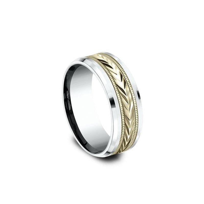 Tribal Arrow Yellow and White Gold Ring Ring Princess Bride Diamonds