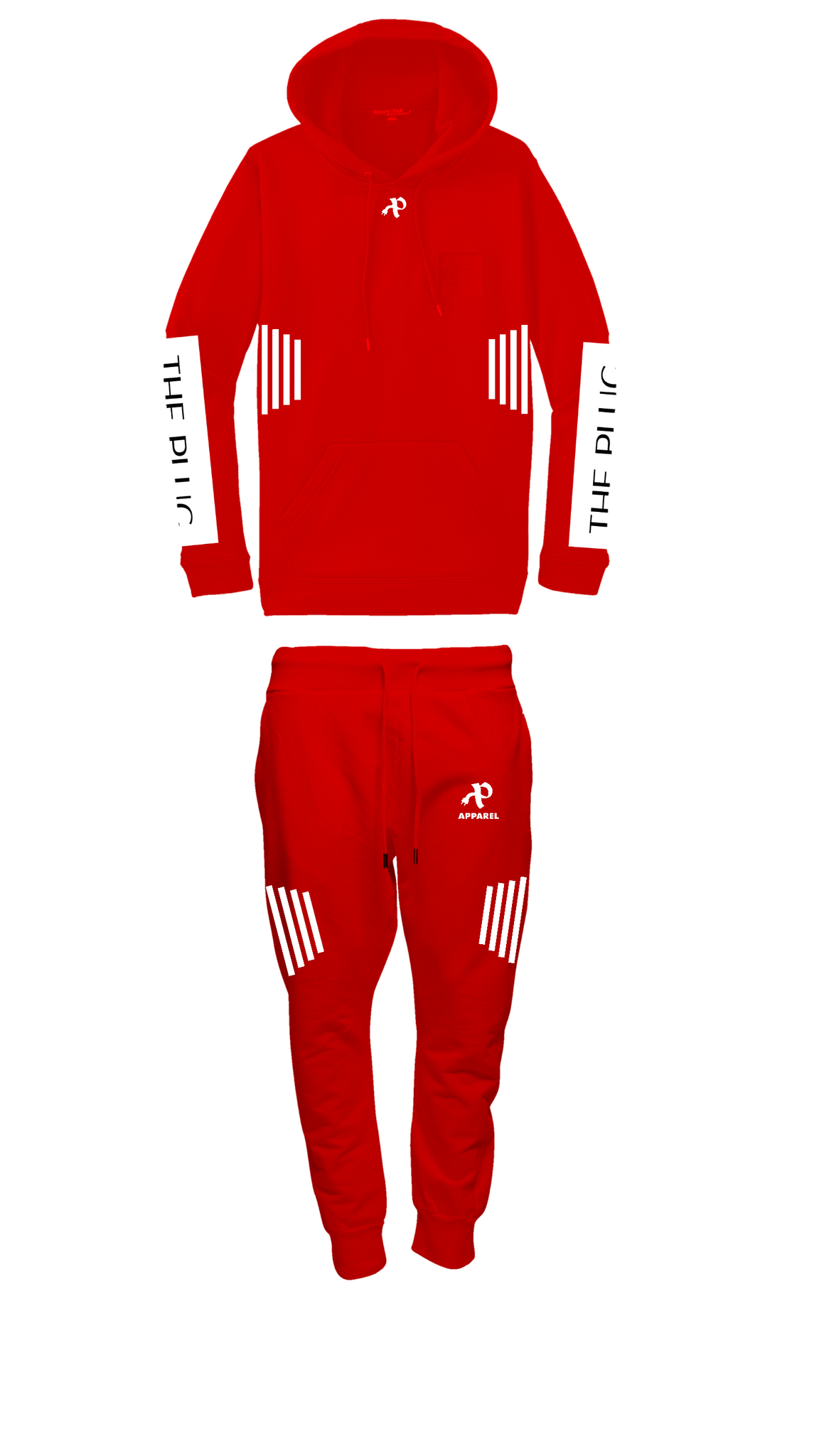 """Fire Red"" sweatsuit"
