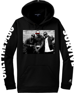 """ONLY US"" Blacked out hoodie"