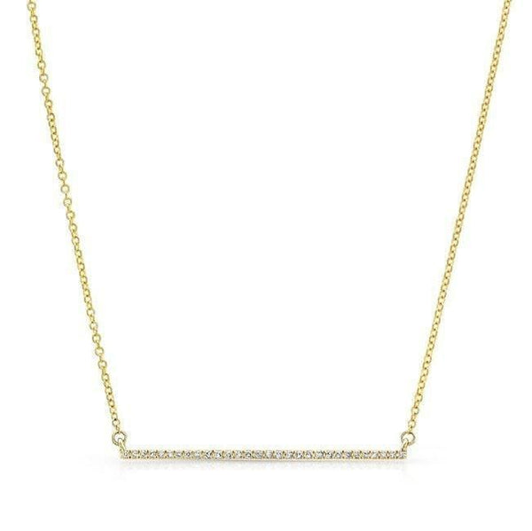 Diamond Thin Bar Necklace