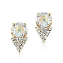 Moonstone Diamond Maddie Stud Earrings