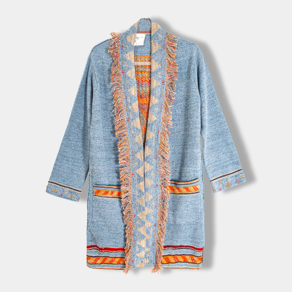 Recycled Inlaid Denim Coat