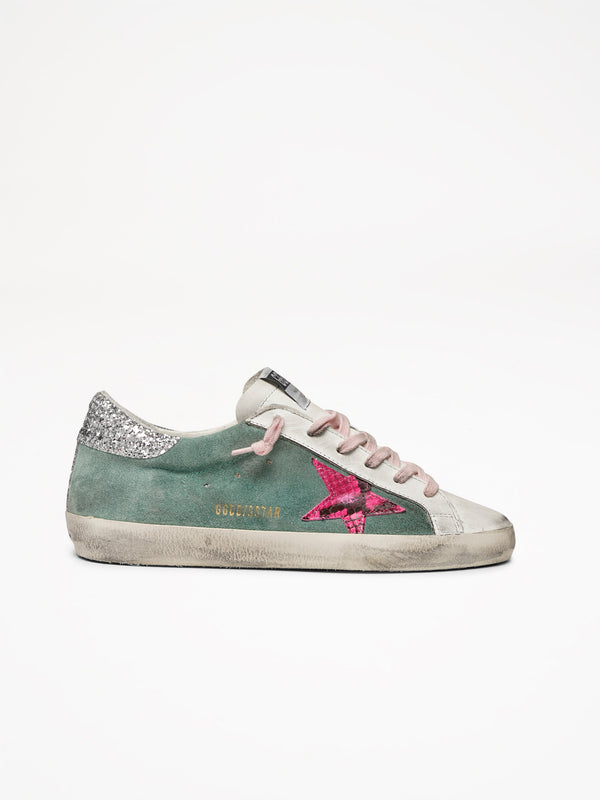Superstar Fuxia Python Star Sneakers