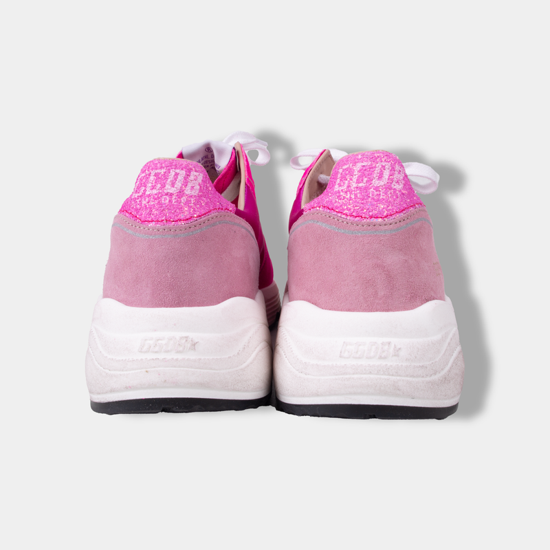 Golden Goose Running Sole Fuxia Suede/Pink Star Glitter