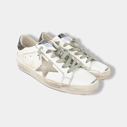 Superstar Leather Star Lurex Heel Sneakers